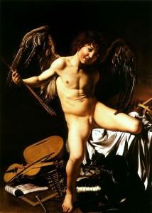 Amor vincit omnia – Amor besiegt alle (Amor als Sieger), um 1602