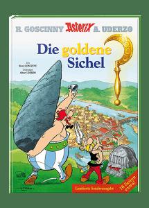 """Sonderausgabe des im Deutschen als Band 5 erschienenen, eigentlich zweiten Asterix-Abenteuers """"Die goldene Sichel"""""""